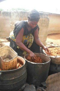 Ghanian Woman Makes Dye for Clothing