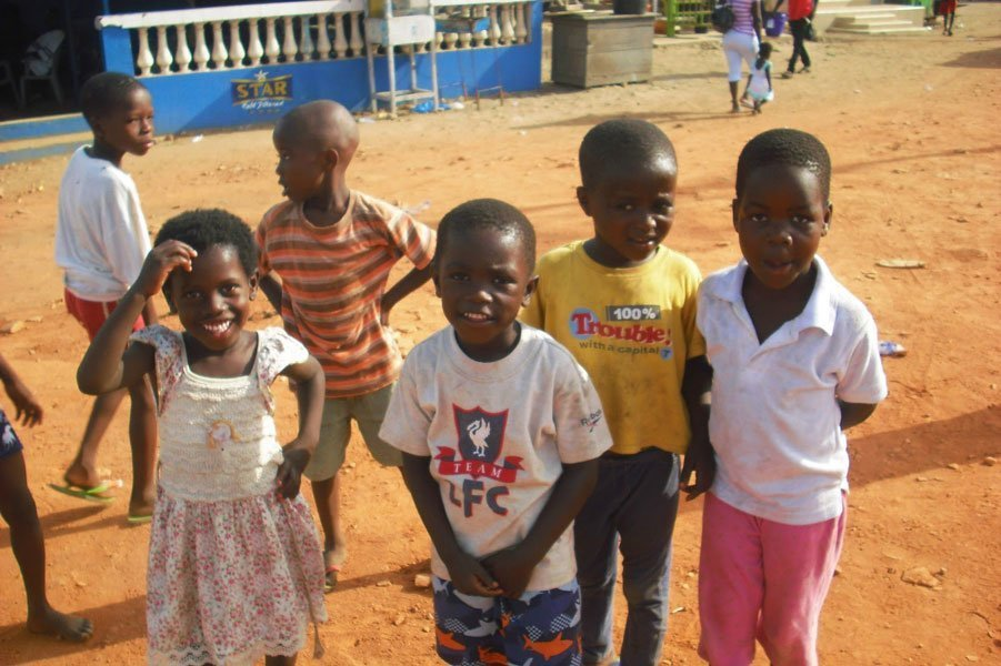 Kids from the Ghana orphanage