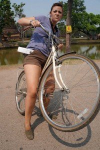 donielle-on-bike