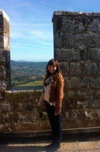 Kinsey overlooking Tuscany.