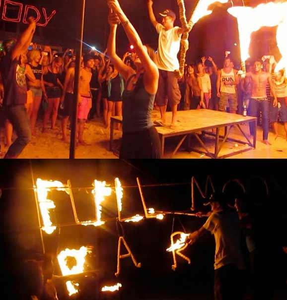 fire-show-beach-night