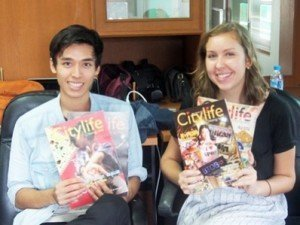 Markus and Melinda showing off their work at CityLife.