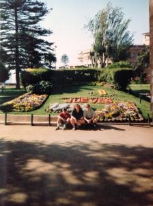 My friends Ben Contine (UNLV) and Danette Rainey (Chico State) at Vina Del Mar, Chile 94