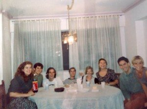 Thanksgiving 1994 with other USAC students downtown Santiago