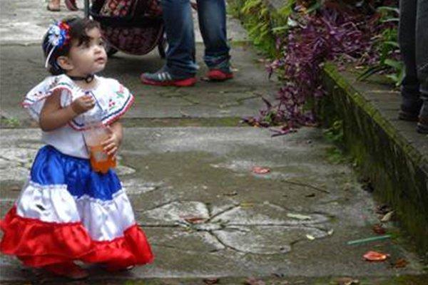 little girl costa rica traditional dress salsa