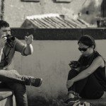 Study abroad students Viterbo Italy photography class