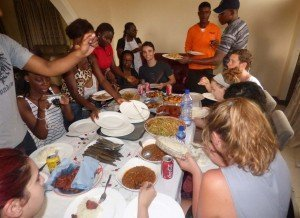 accra ghana cuisine workshop - time to eat
