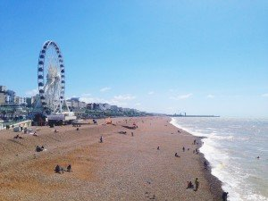 coastal beach ferris wheel