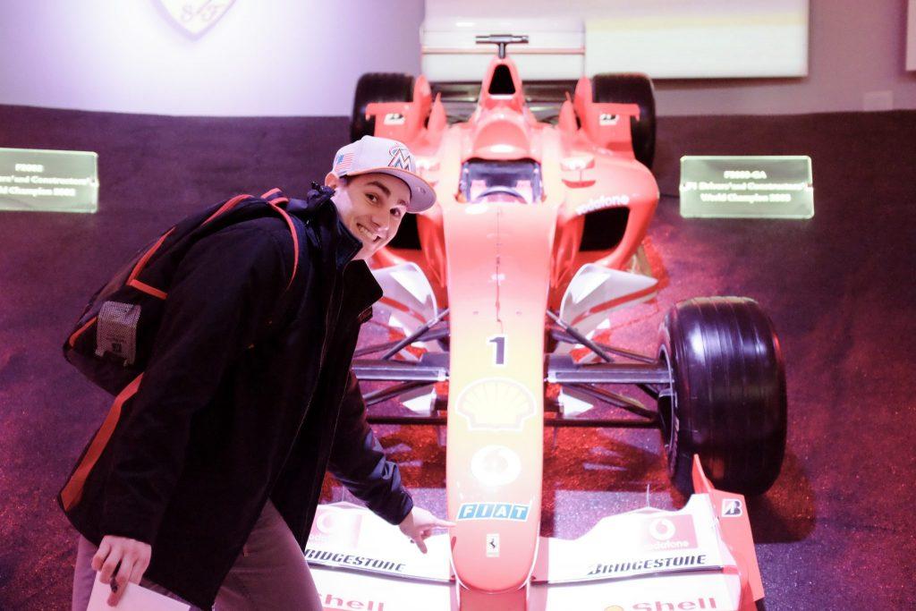 USAC student cars Ferrari Museum