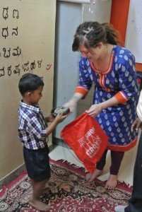 The Shoe That Grows Volunteer community service Bangalore India Study Abroad