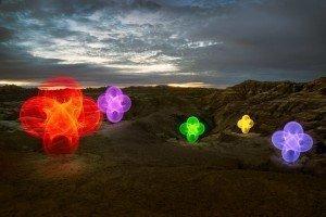Badlands National Park, South Dakota travel photography LED hula hoop road trip light painting