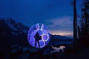 Grand Teton National Park, Wyoming travel photography LED hula hoop road trip