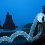 Rialto Beach, Olympic National Park, Washington travel photography LED hula hoop road trip