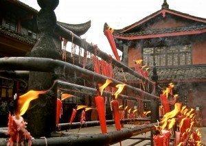 Buddhist temple Chengdu China