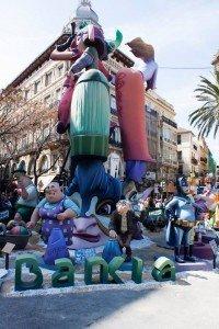 Las Falles creation Valencia Spain