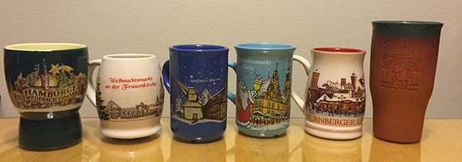 German Christmas mugs