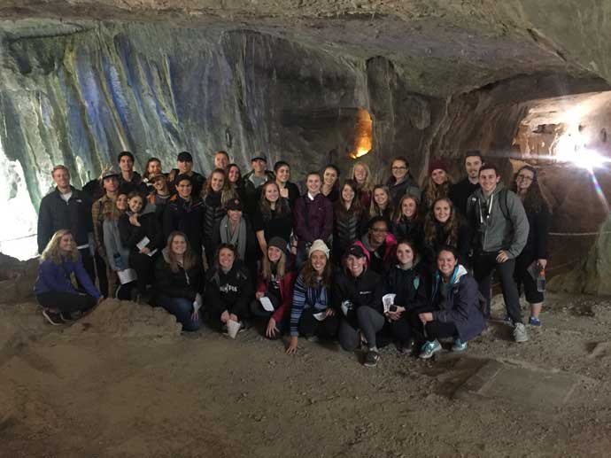 Visiting caves in San Sebastian