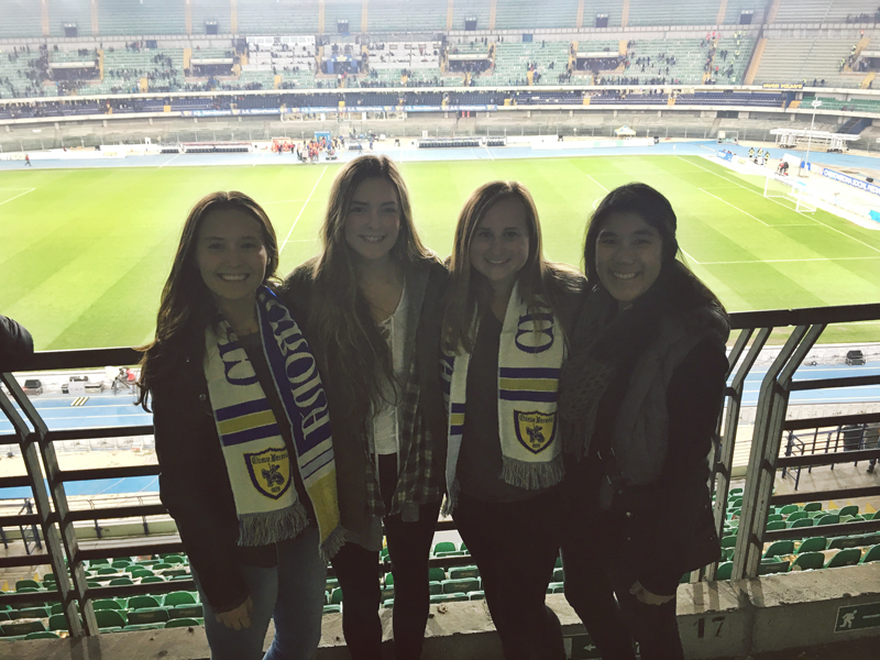 Soccer Game in Verona