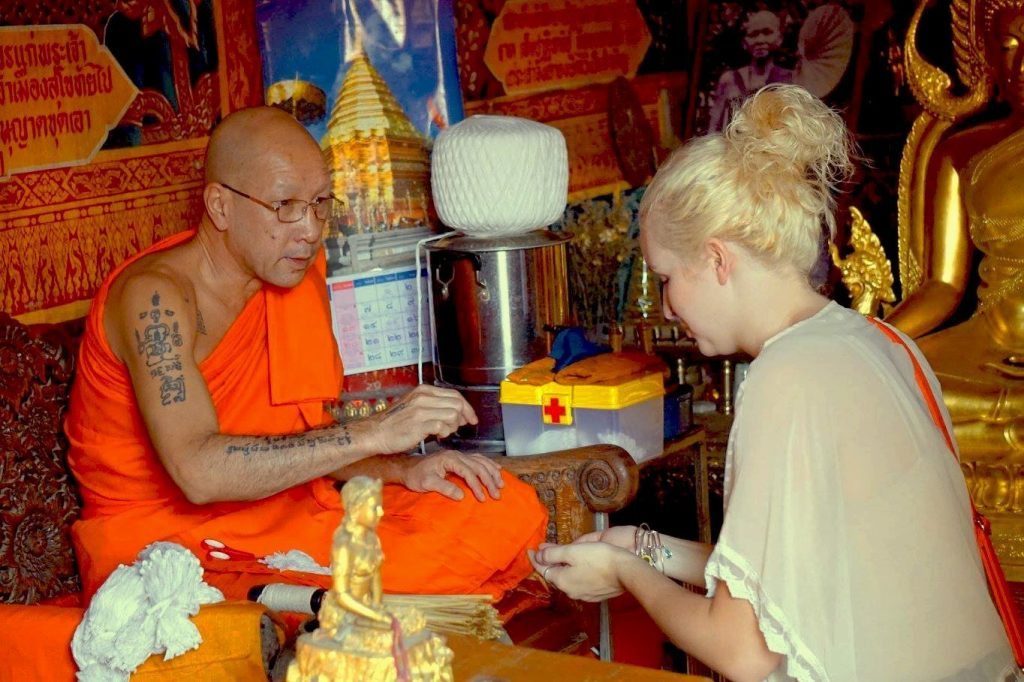 Chiang Mai, Thailand, Monk, Blessing, Study Abroad