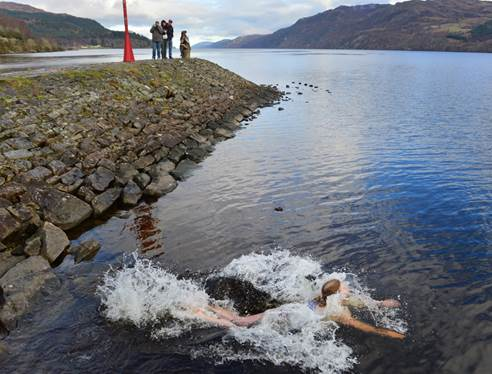 Swimming in the Loch Ness