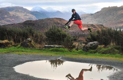 Puddle jumping in Scotland