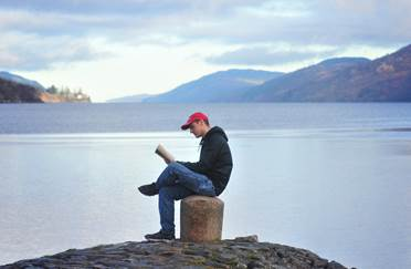 reading by Loch Ness