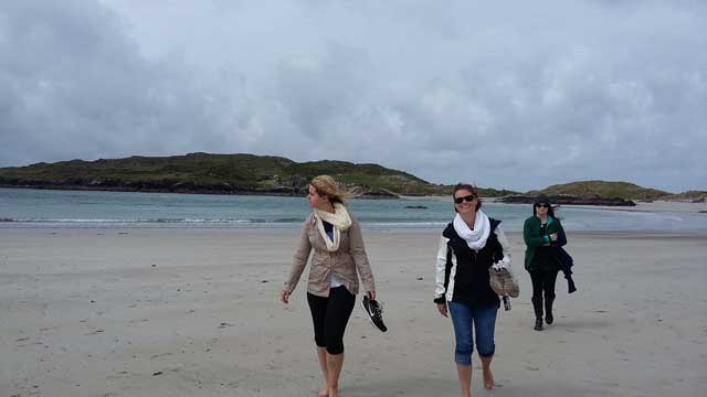 Walking on the Beach on USAC Cork Optional Tour to Ring of Kerry