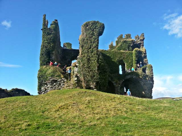 Visiting castles during USAC Cork Optional Tour to Ring of Kerry