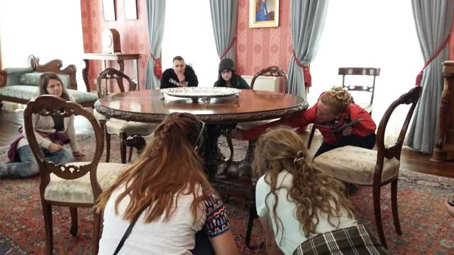 History lessons during USAC Cork optional tour to Ring of Kerry