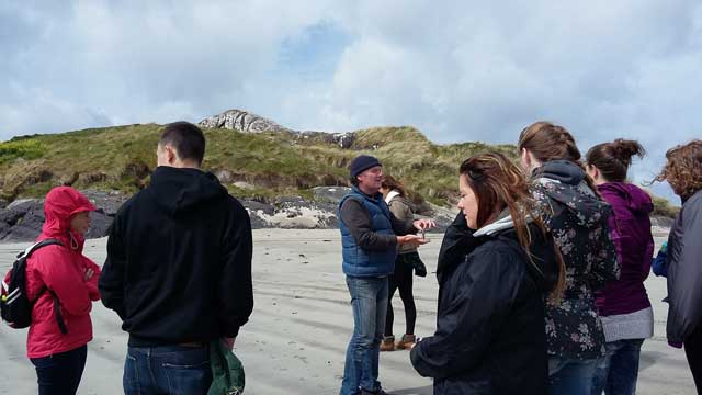 Jellyfish lesson on USAC Cork option tour to Ring of Kerry