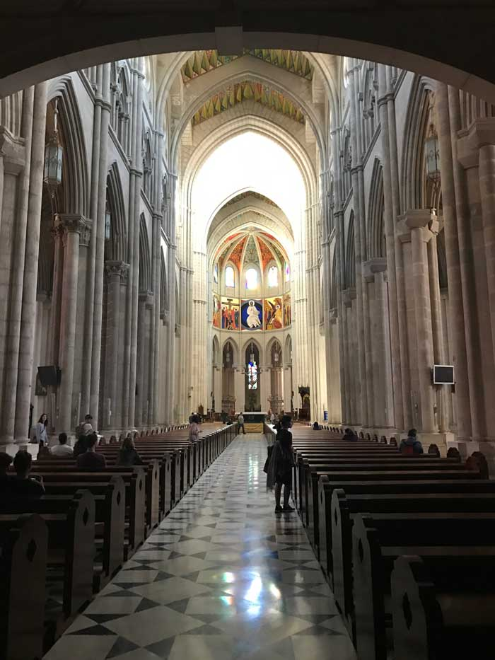 Catedral de Almudena in Madrid, Spain