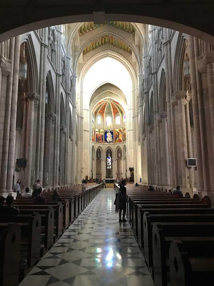 Catedral de Almudena in Madrid, Spain
