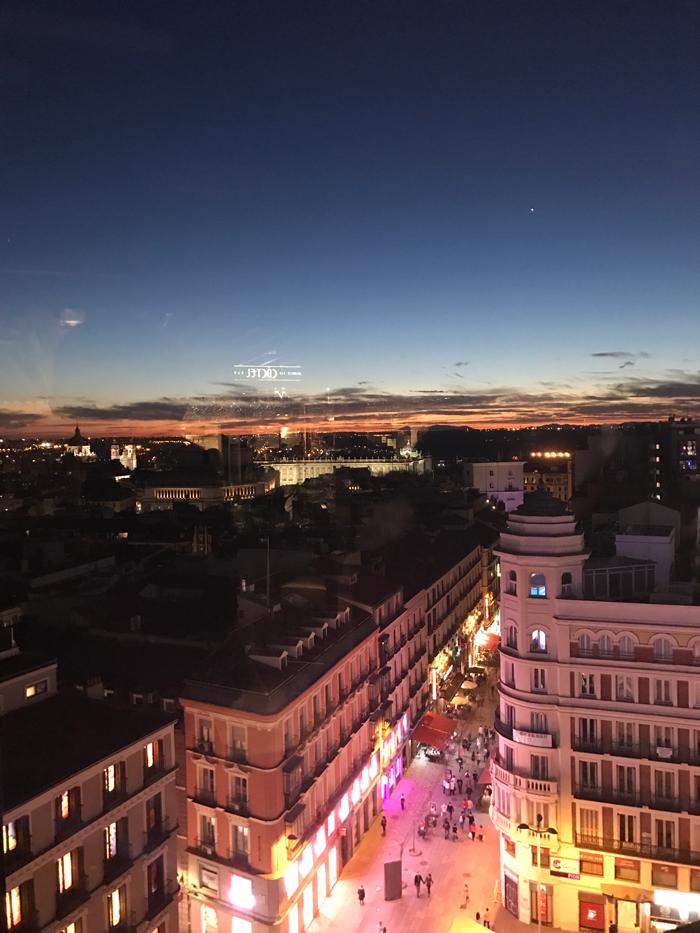 Madrid, Spain sunset