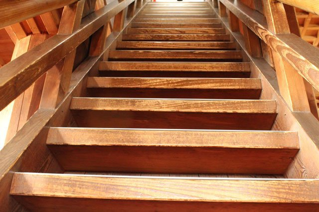 Ninja castle staircase