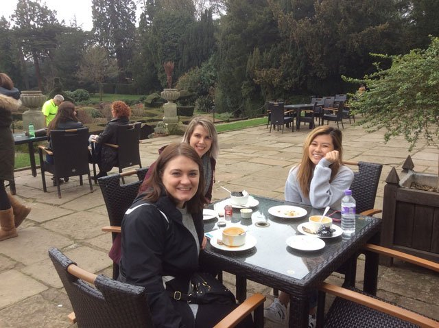 Enjoying Tea at Warwick Castle