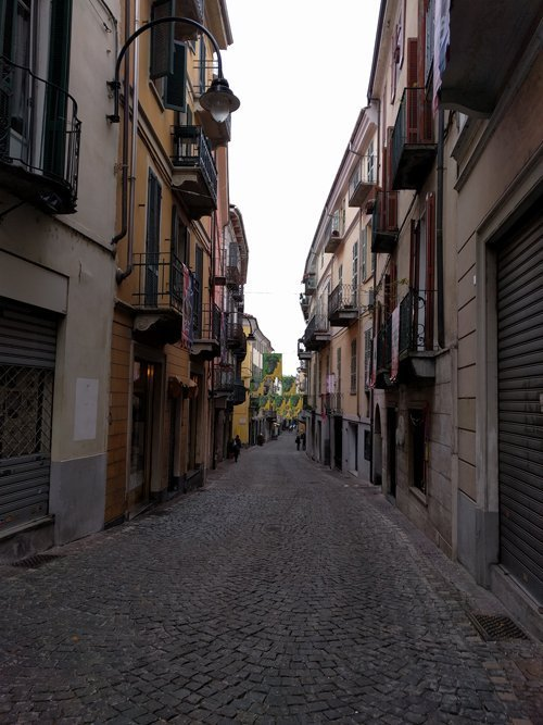 Italy streets prior to the orange throwing battle