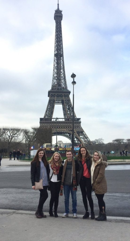 Group shot at Eiffel Tower