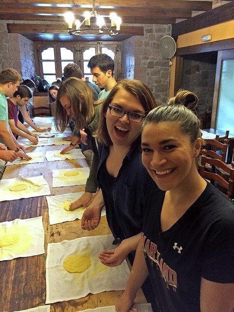 USAC Madrid students making talos