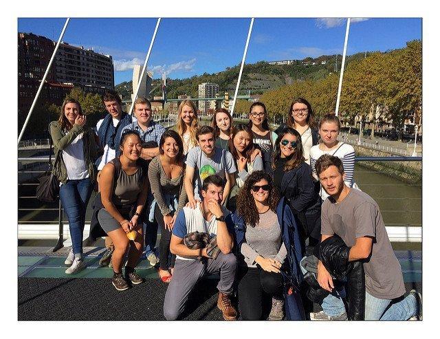 USAC Madrid students in Bilbao, Spain