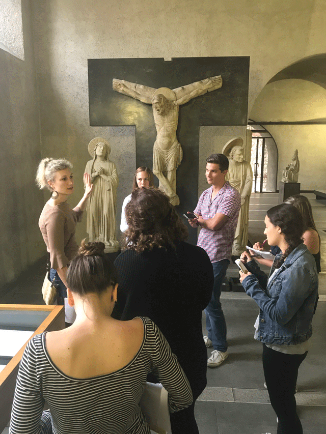 USAC Verona students visit Castelvecchio Museum for Art and Renaissance Class