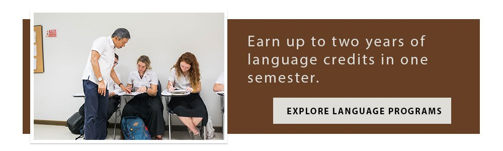 Make learning a new language one of your study abroad goals