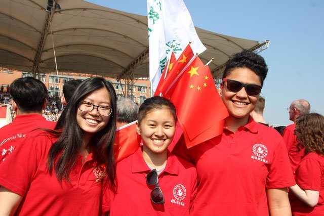USAC students in Chengdu, China