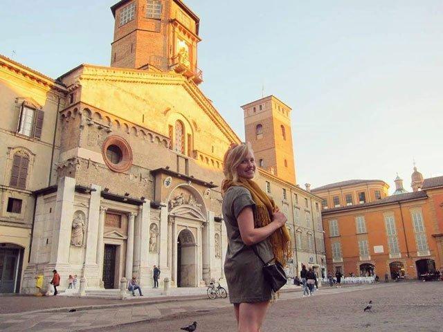 USAC student exploring Reggio Emilia