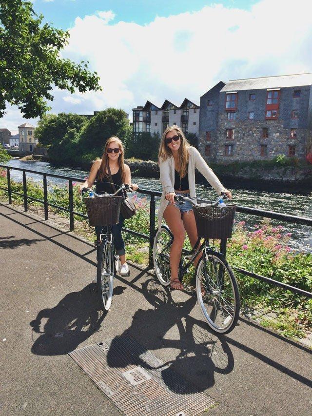 Riding bikes around Galway