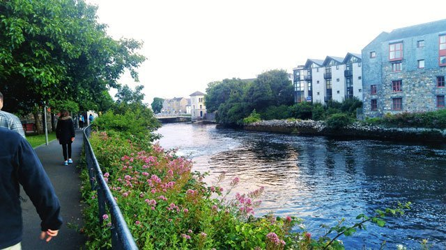 River flowing through Galway