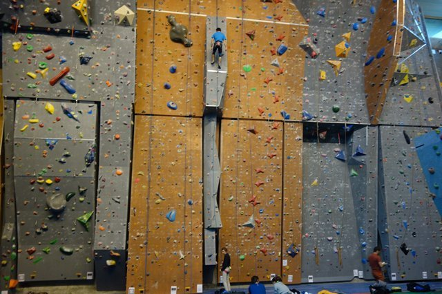 University of Pau sport complex rock climbing wall