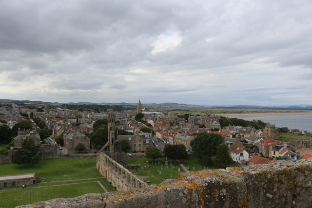 The view from the top of St. Andrews Cathedral