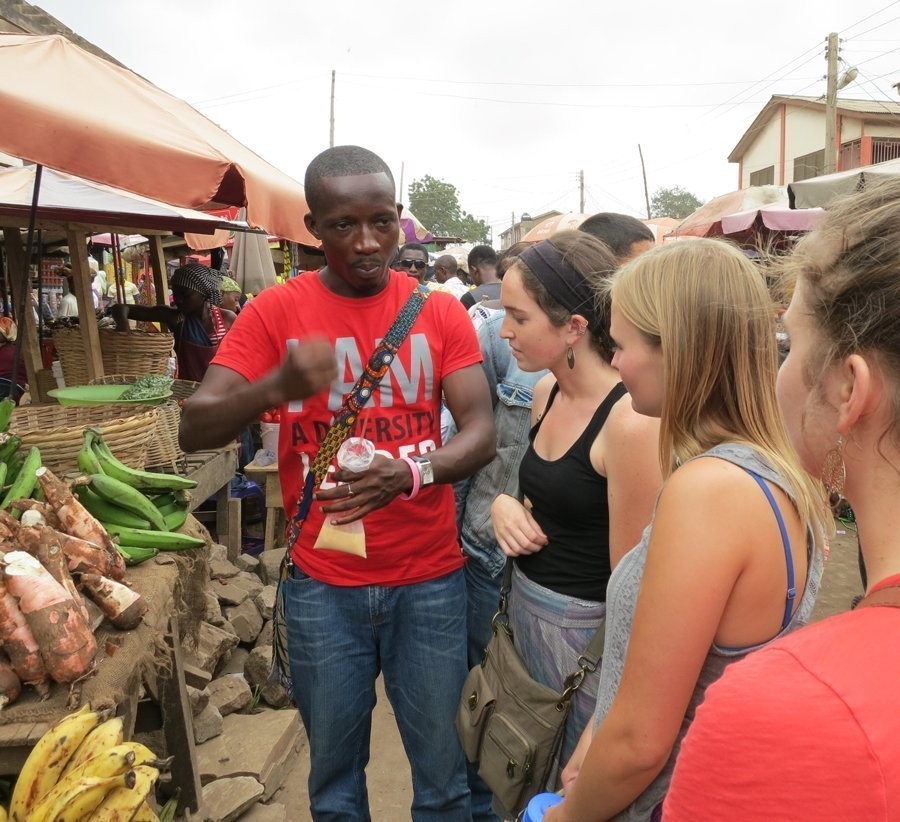 Students in Ghana learn about local produce
