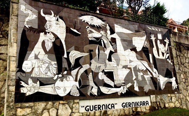 "Replica of Picasso's ""Guernica"""
