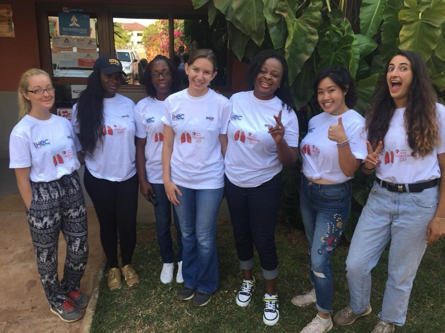 Students volunteering with a Public Health NGO in Accra, Ghana